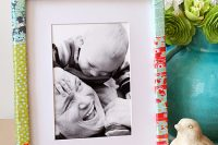 DIY paper wrapped photo frame