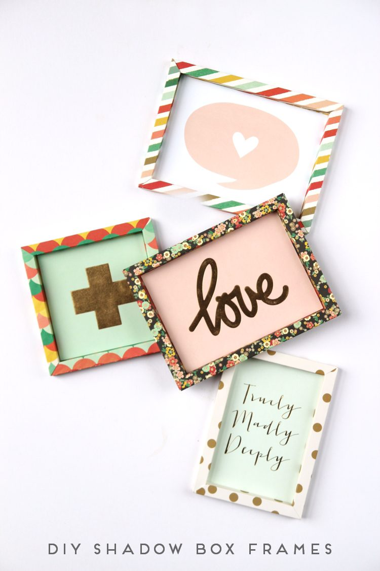 DIY 3D paper frames (via gatheringbeauty)