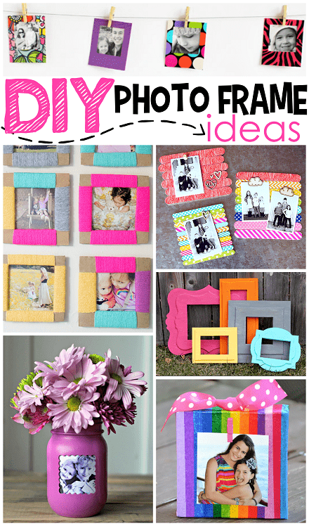 DIY bold paper frames (via craftymorning)