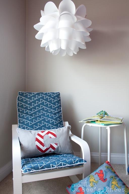 DIY nautical cover for IKEA Poang chair (via justthebeesknees)
