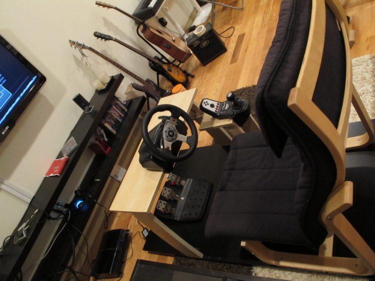 DIY gaming cockpit (via ikeahackers)