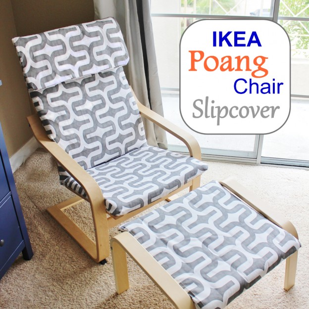 DIY Poang chair slipcover (via stickelberry)