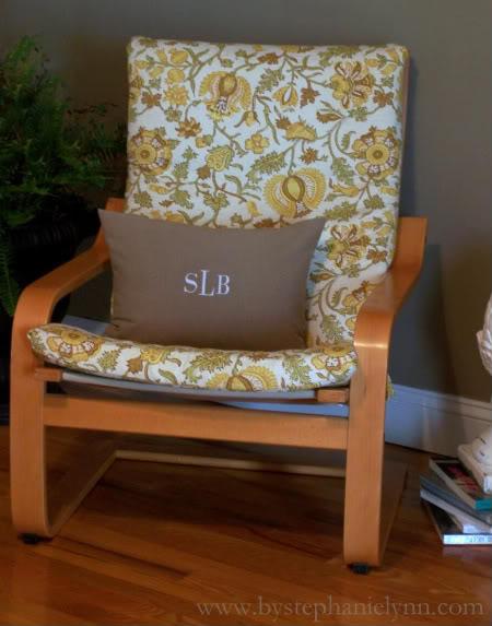 DIY retro floral print cover for IKEA Poang chair (via bystephanielynn)
