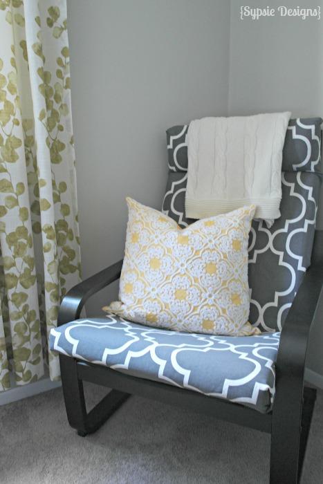 DIY printed cover for IKEA Poang chair (via polishedhabitat)