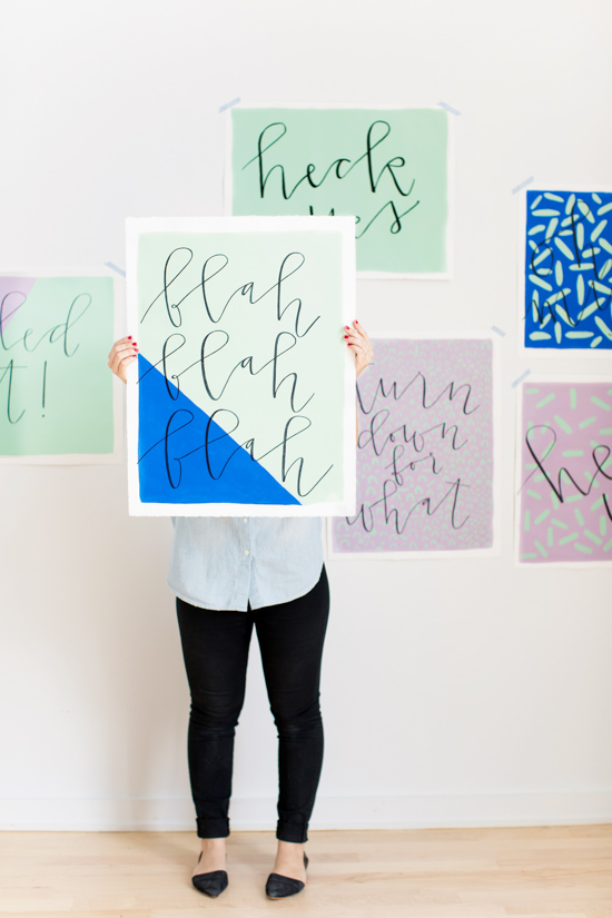 DIY poster wall art (via papernstitchblog)