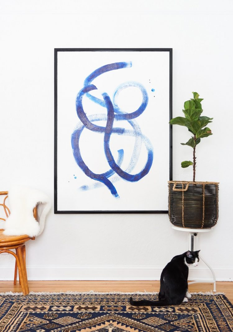 DIY brushstroke statement art (via francoisetmoi)