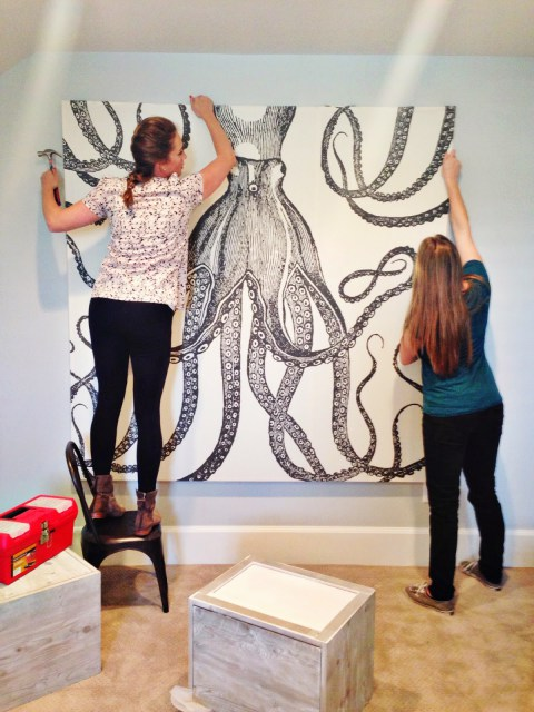 DIY octopus wall art (via houseofjadeinteriorsblog)