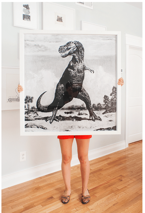 DIY dino framed wall art (via manmadediy)