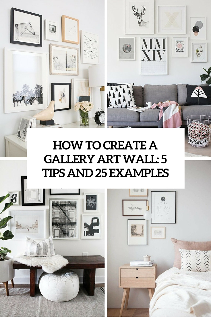 how to create an art gallery wall 5 tips and 25 ideas shelterness. Black Bedroom Furniture Sets. Home Design Ideas