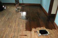 DIY wood floor refinish