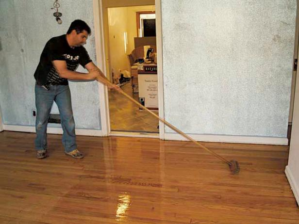How to refinish wood floors (via diynetwork)