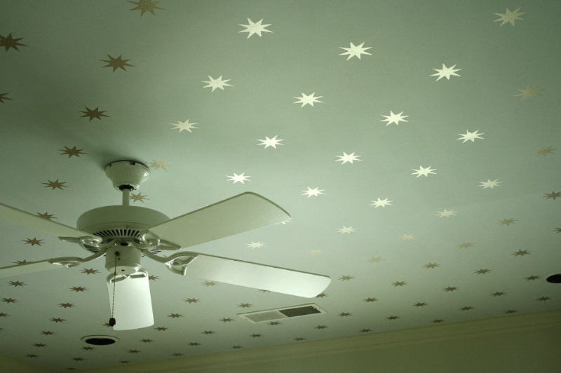 DIY star stencil ceiling