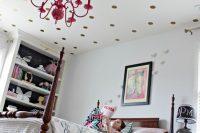 DIY polka dot ceiling