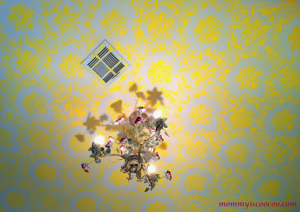 How to stencil a ceiling in a bold way