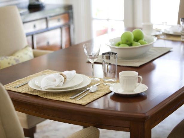 How to refinish a dining table (via hgtv)