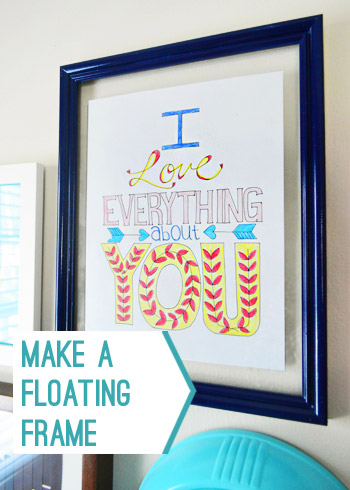 DIY dazzling blue floating picture frame (via younghouselove)