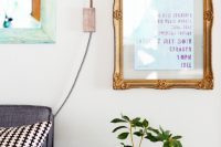 DIY vintage floating frame