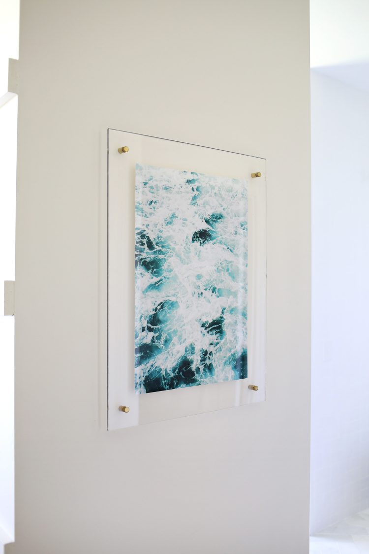 diy floating acrylic frame via abeautifulmess