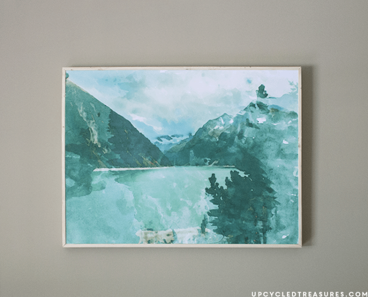 DIY large scale watercolor art (via mountainmodernlife)