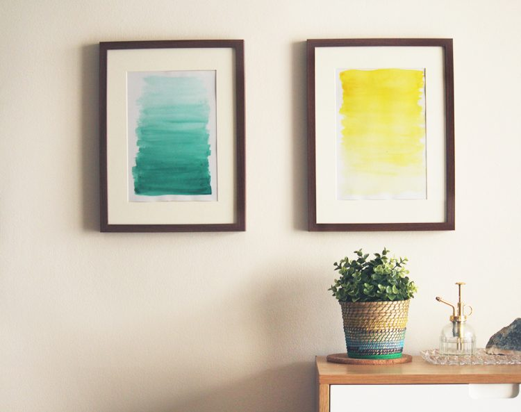 DIY mini watercolor ombre artworks (via makerssociety)