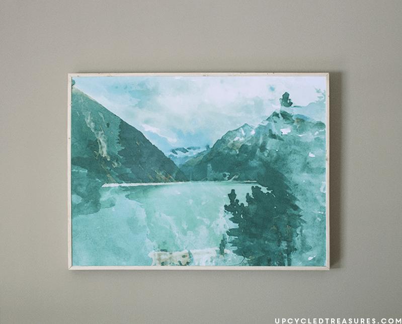 DIY large scale watercolor art