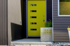 02 bold neon yellow dront door with glass panes