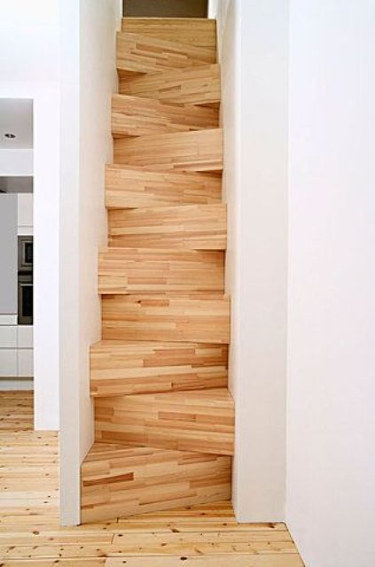 Creative Wooden Sidesteps With Triangular Shape