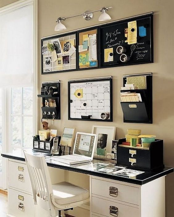 Wall storage ideas for office Decor Magnet Boards And Hanging Document Compartments Shelterness 29 Creative Home Office Wall Storage Ideas Shelterness