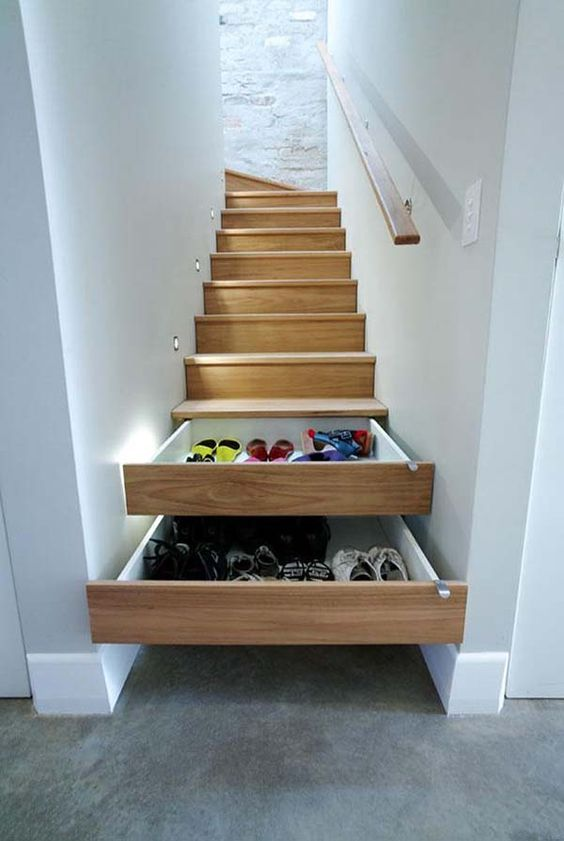 staircase drawers will declutter and save your space