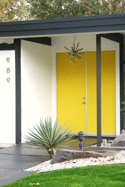 vibrant yellow front doors