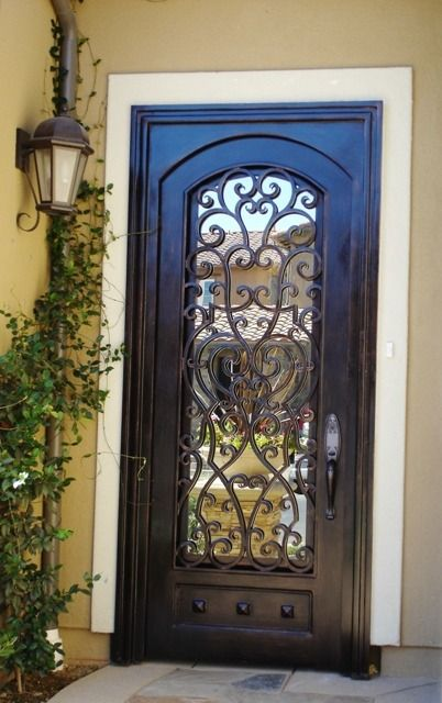 23 metal front doors that are really inspiring shelterness for Back entry doors for houses