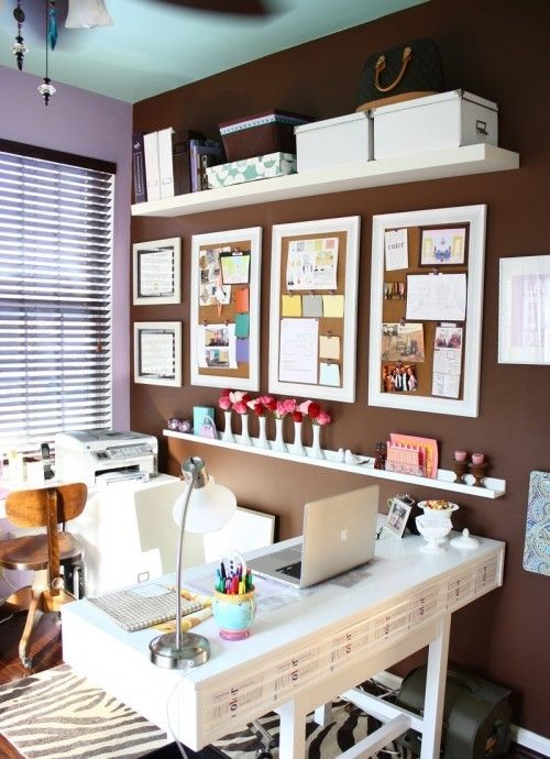 29 creative home office wall storage ideas shelterness. Black Bedroom Furniture Sets. Home Design Ideas