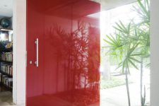 04 oversized bold red glass front door