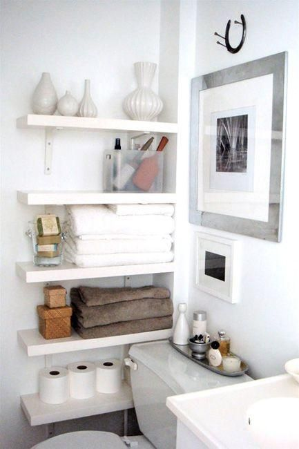 Bathroom Wall Shelves 26 simple bathroom wall storage ideas - shelterness