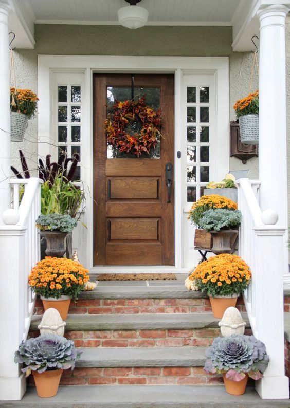 Reclaimed Wooden Front Door With White Sidelights