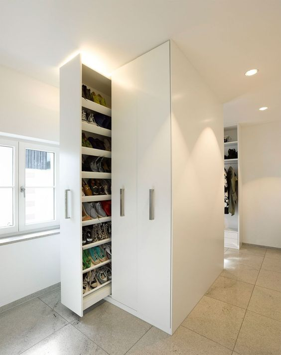 vertical drawers for a closet