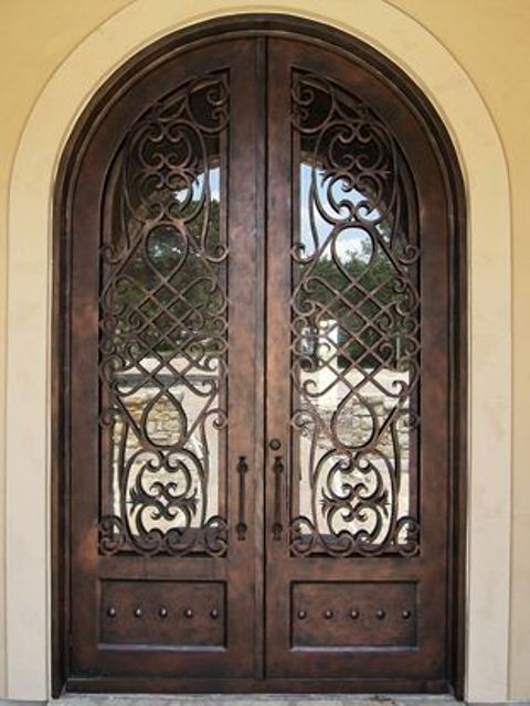 wrought iron front doors