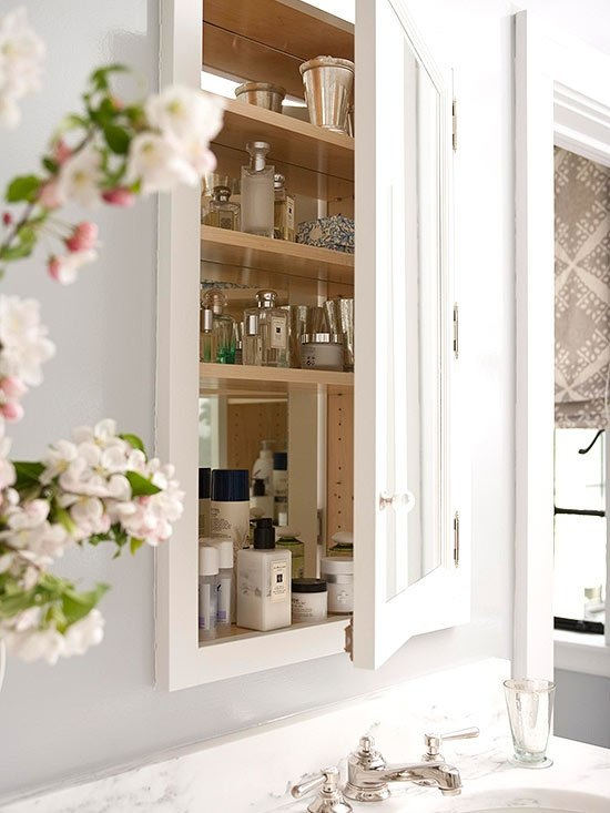 in-wall medicine cabinet for bathrooms