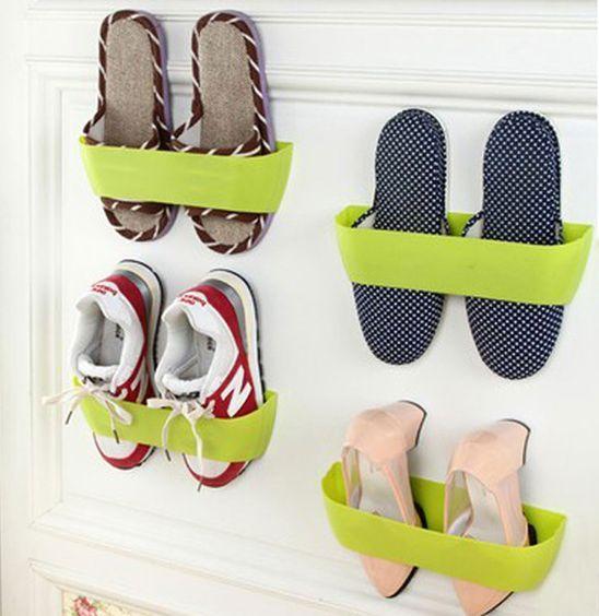 adhesive shoe wall rack