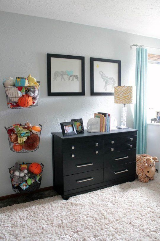 25 space saving kids rooms wall storage ideas shelterness for Hampers for kids rooms