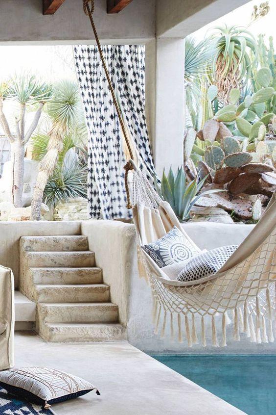 a hammock over the pool is a fantastic idea