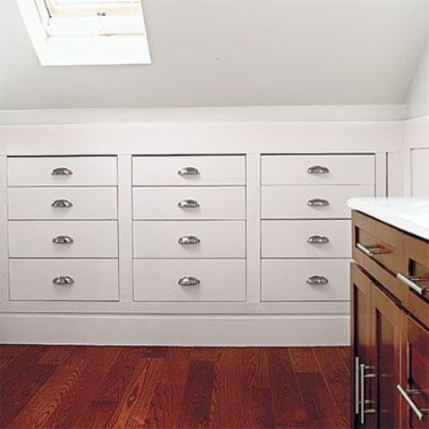 attic built-in drawers are practical and look tidy