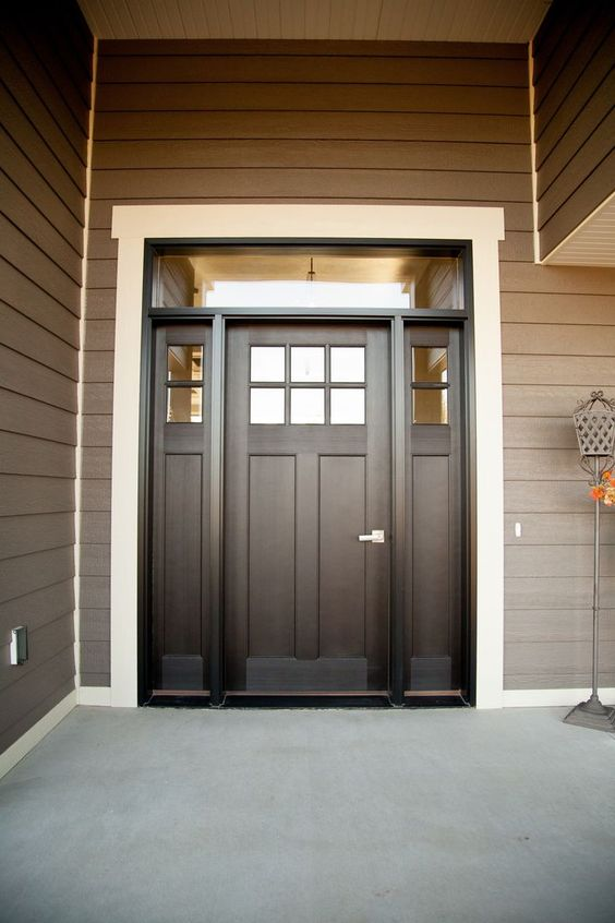 27 chic dark front doors to try for your entry shelterness for Narrow double front doors