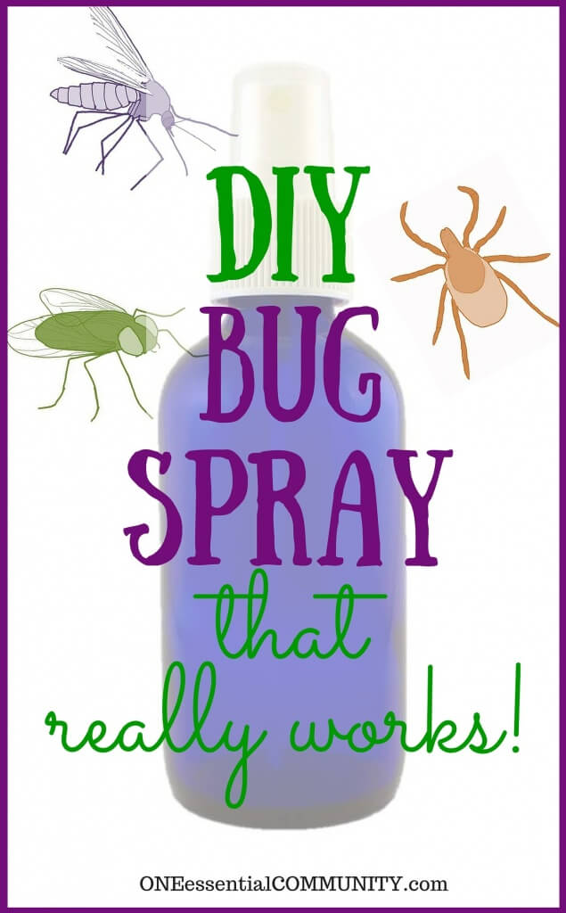 DIY bug spray with kid safe options