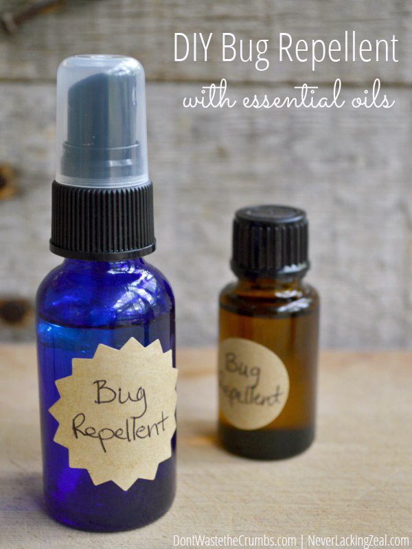 DIY bug spray purposed at various types of insects (via dontwastethecrumbs.com)