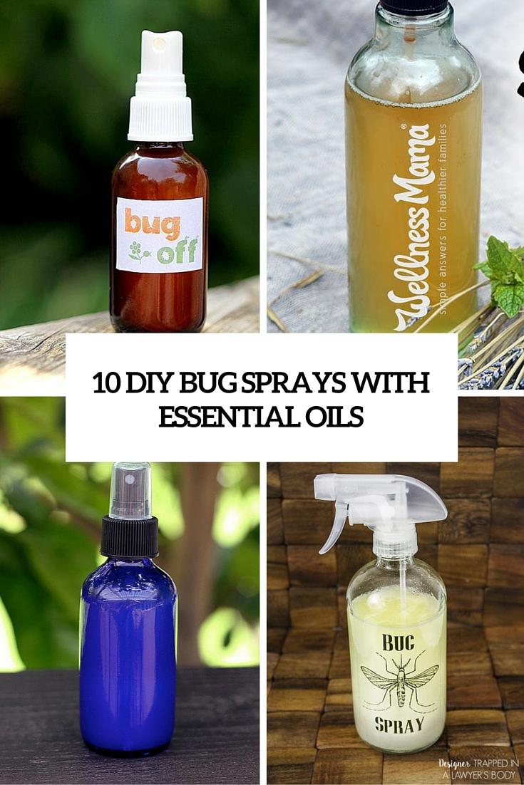 10 DIY Bug Sprays With Essential Oils