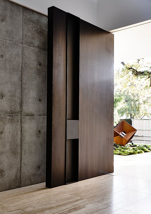 Extra Large Modern Dark Wood Doors