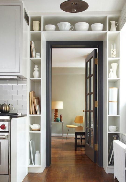built-in around the door frame