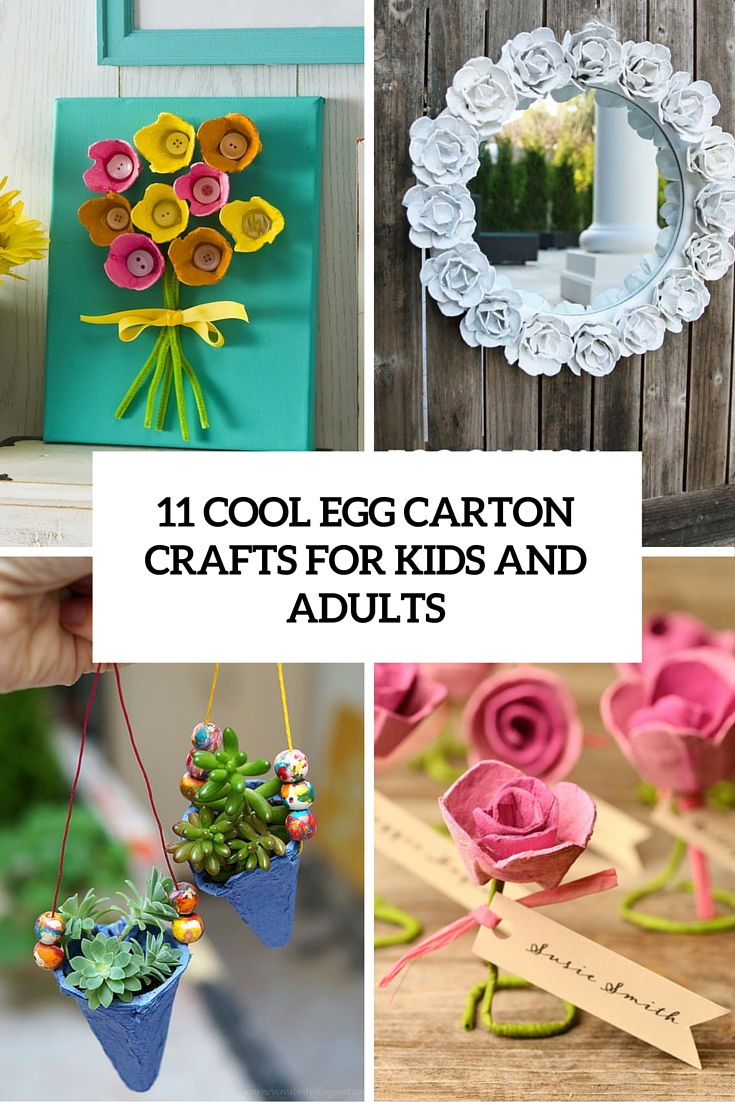 cool egg carton crafts for kids and adults cover
