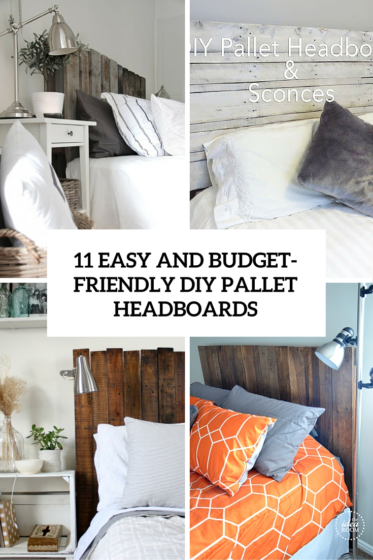 easy and budget frinedly diy pallet headboards cover